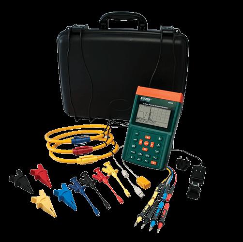Analisador de Potência e Harmônicos Trifásico Extech PQ3350-3 (Refurbished)  - MRE Ferramentas