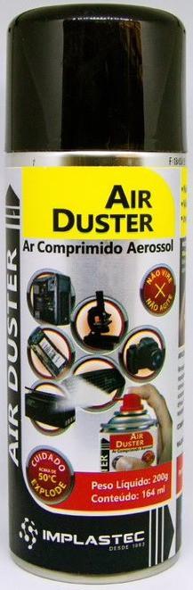 Ar Comprimido Aerossol Implastec Air Duster 200g / 164ml  - MRE Ferramentas