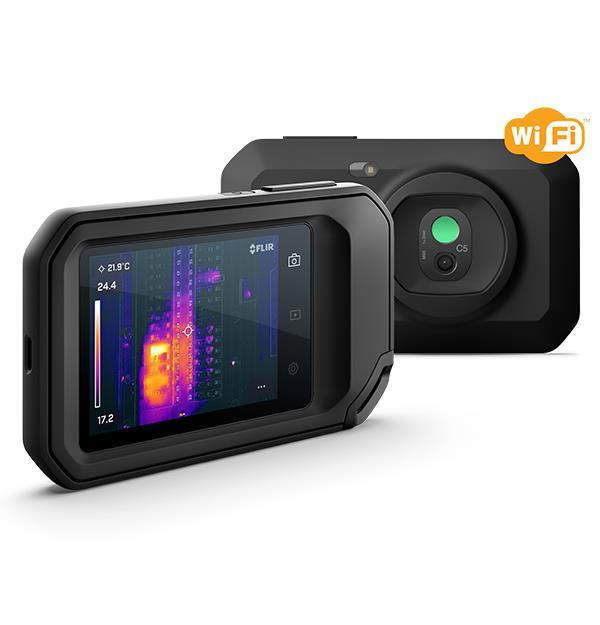 Câmera Termográfica Compacta 160 X 120 (19.200 pixels) c/MSX e Wi-Fi (-20 a 400 °C) Ignite™ Flir C5  - MRE Ferramentas