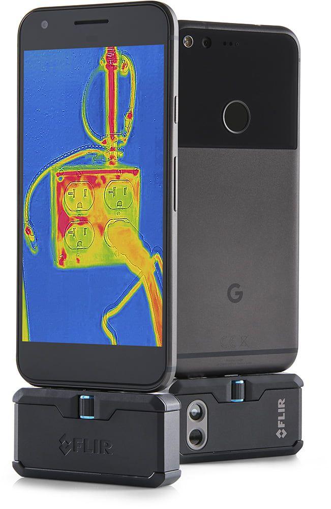 Câmera Termográfica para Celular Android 4.800 PIXELS (-20 °C A 120 °C) Flir One PRO LT USB-C  - MRE Ferramentas