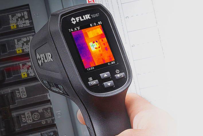 Câmera Térmica Pontual 4.800 PIXELS (-25ºC a 380ºC) Campo Visão: 25°X19,6° Flir TG167  - MRE Ferramentas