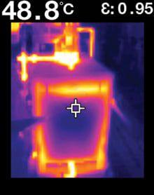 Câmera Térmica Pontual 4.800 PIXELS (-25ºC a 380ºC) Campo Visão: 50ºX38,6º Flir TG165  - MRE Ferramentas