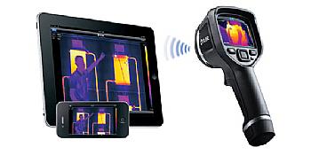 Câmera Térmica Termovisor 43.200 (240 × 180) pixels com MSX e WIFI Flir e6-XT  - MRE Ferramentas