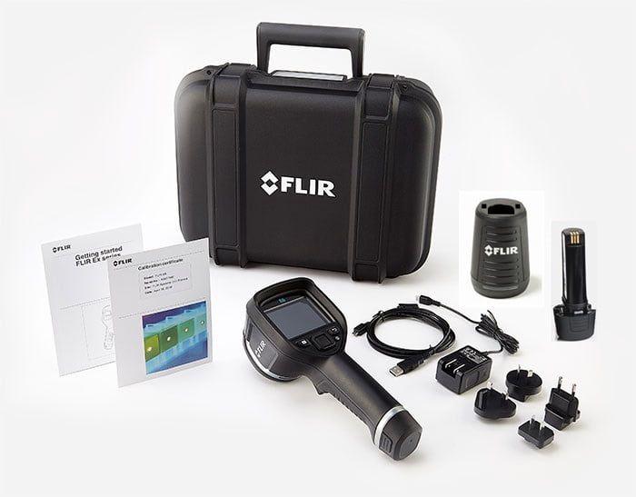 Câmera Termográfica Portátil 320 x 240 (76.800 pixels) c/MSX e WI-Fi Flir e8-XT  - MRE Ferramentas