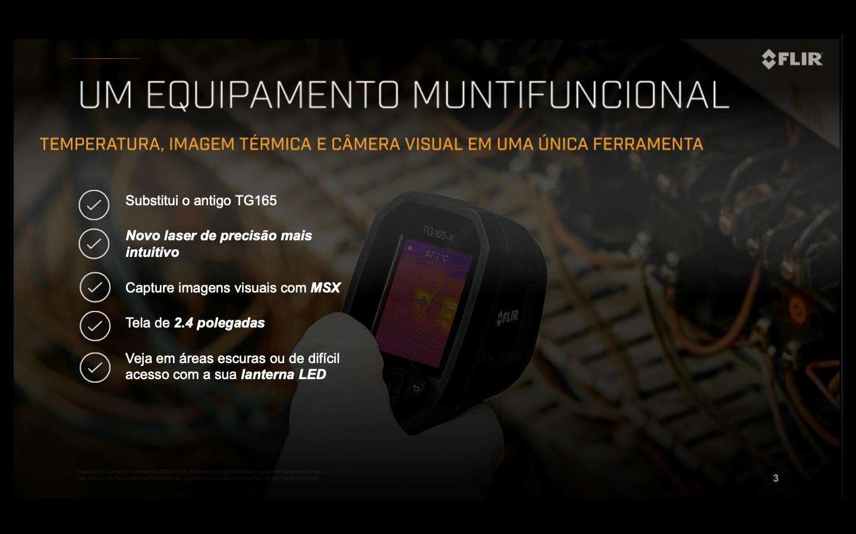 Câmera Termográfica Pontual c/MSX (-25°C a 300ºC) Flir TG165-X  - MRE Ferramentas