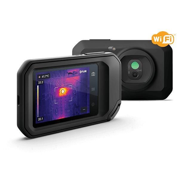Câmera Termográfica Compacta 128 x 96 (12.288 pixels) c/MSX e Wi-Fi (-20 a 300 °C) Ignite™ Flir C3-X  - MRE Ferramentas