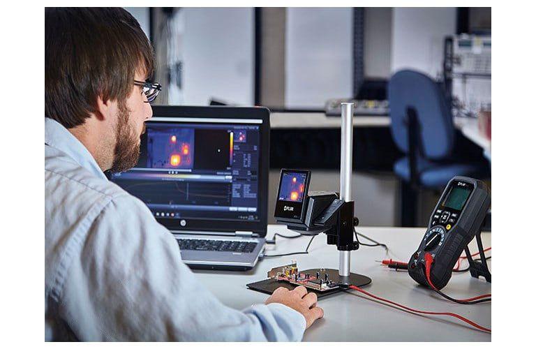 Câmera Termográfica de Bancada Sistema de Imagens Térmicas para Teste de Componentes Eletrônicos Flir ETS320  - MRE Ferramentas