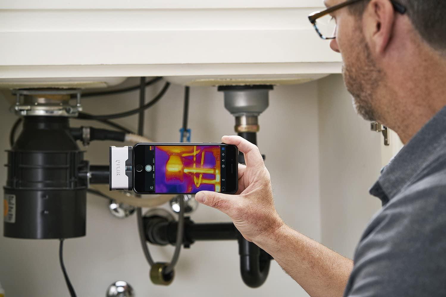 Câmera Termográfica para Celular 4.800 PIXELS (-20 °C A 120 °C) Flir One Gen 3 IOS  - MRE Ferramentas