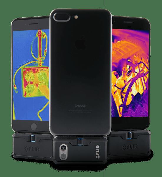 Câmera Termográfica para Celular Iphone 19.200 PIXELS (-20 °C A 400 °C) Flir One PRO IOS  - MRE Ferramentas