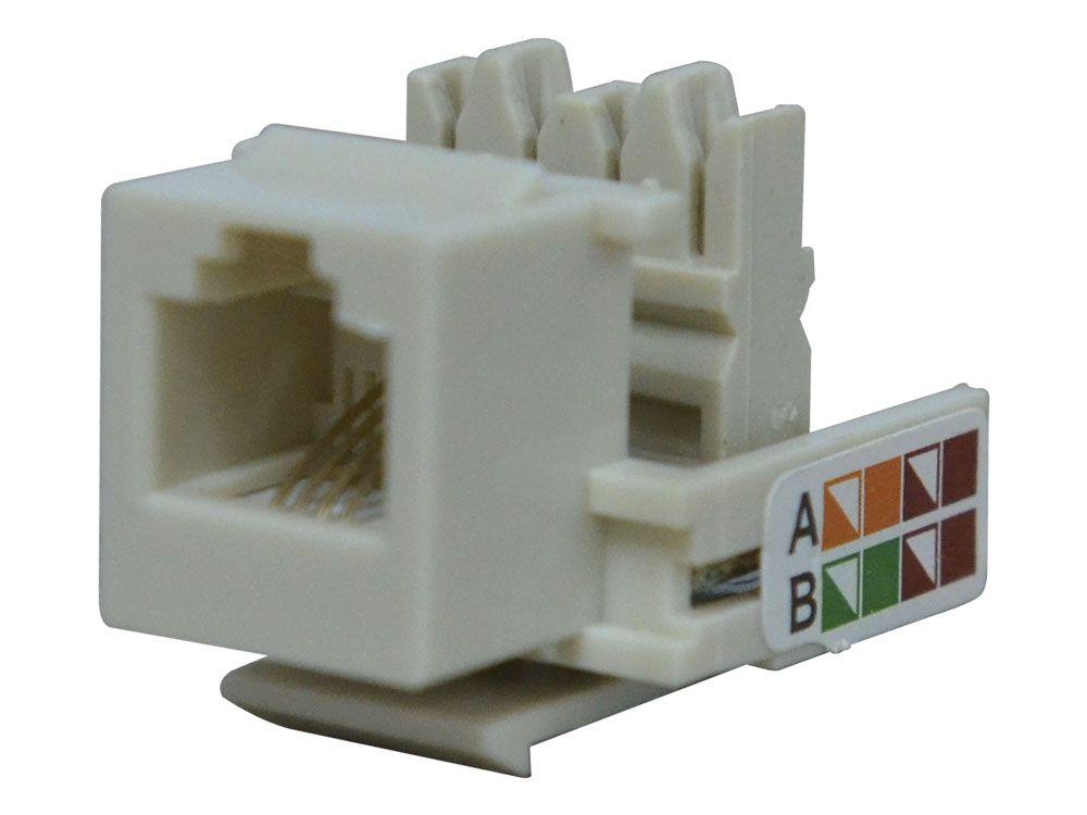 Conector Fêmea RJ11 CAT3 6x4 Hikari - Conjunto 10 Peças  - MRE Ferramentas