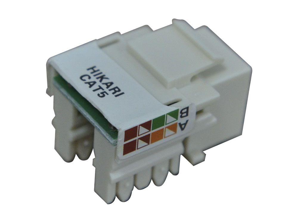 Conector Fêmea RJ45 CAT5e Hikari - Conjunto 10 Peças  - MRE Ferramentas