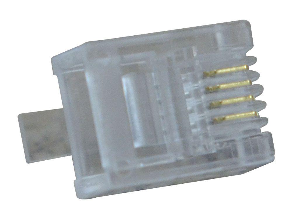 Conector Modular Plug 6x4 RJ11 Hikari - Conjunto 10 Peças  - MRE Ferramentas
