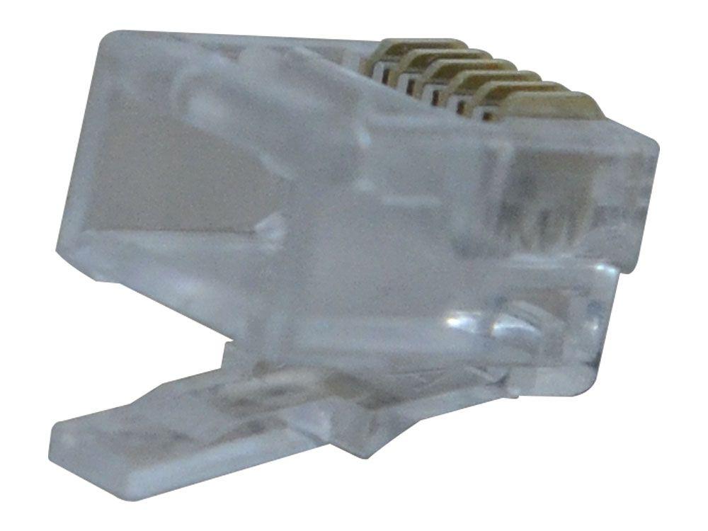 Conector Modular Plug 6x6 RJ11 Hikari - Conjunto 10 Peças  - MRE Ferramentas