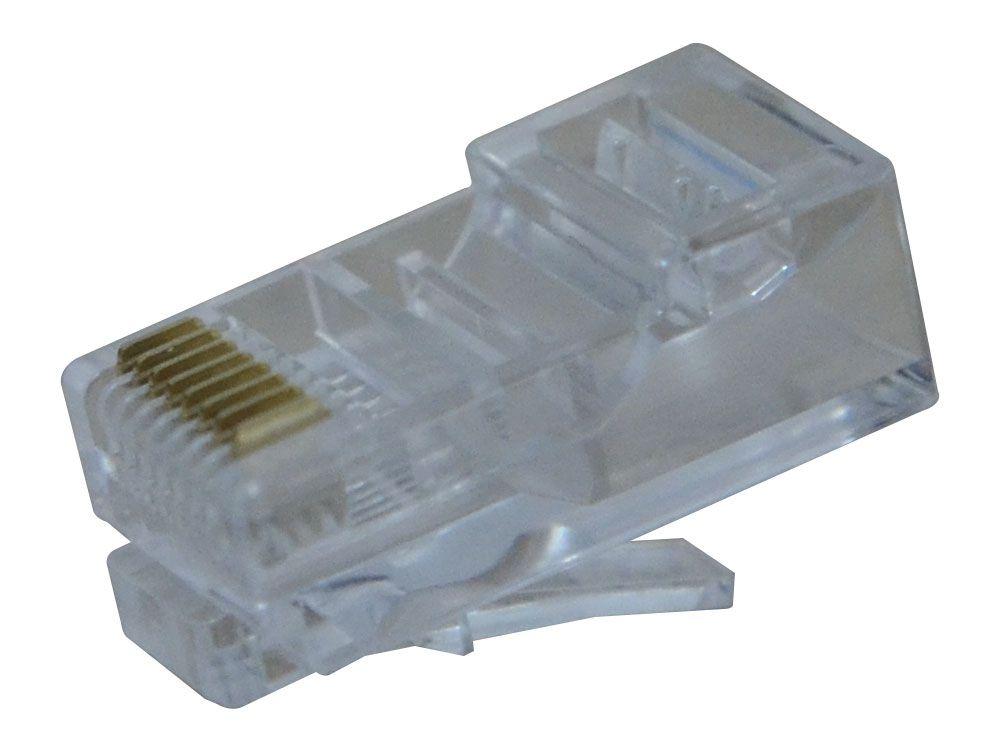 Conector Modular Plug 8x8 RJ45 Hikari - Conjunto 10 Peças  - MRE Ferramentas