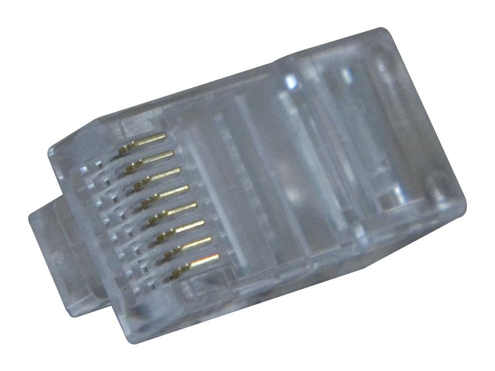 Conector Modular Plug 8x8 RJ45 CAT 6 Hikari - Conjunto 10 Peças  - MRE Ferramentas