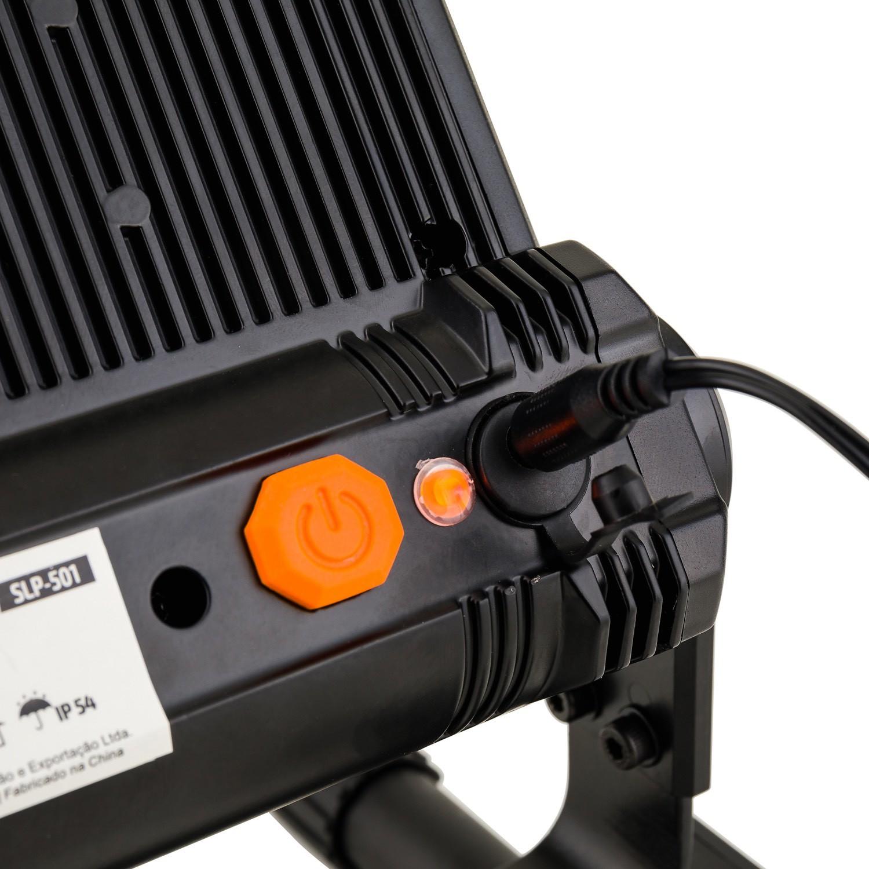 Conjunto 2 Refletor Recarregável LED Solver SLP-501 (Acompanha 2 Refletor e 1 Tripé SLP-TP1)  - MRE Ferramentas