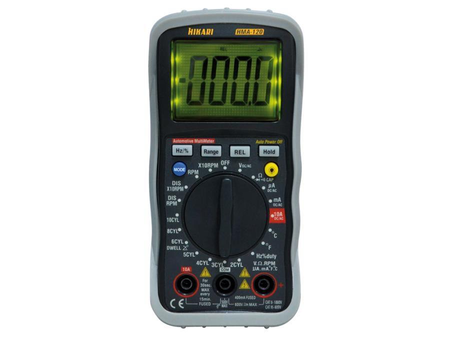 Multímetro Automotívo Digital Hikari HMA-120  - MRE Ferramentas