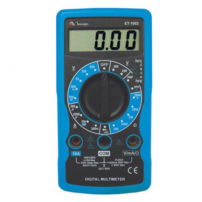 Multímetro Digital Minipa ET-1002  - MRE Ferramentas