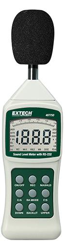 Decibelímetro com Interface para PC Extech 407750  - MRE Ferramentas
