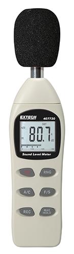 Decibelímetro LCD com gráfico de barras analógico Extech 407730  - MRE Ferramentas
