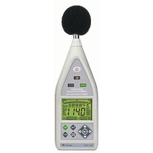 Decibelímetro - Tipo 2  c/ Data Logger - USB - SPL/LEQ/RT60 - Microfone destacável e Atende a Norma de Inspeção Veicular - Minipa  MSL-1360  - MRE Ferramentas
