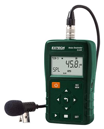 Dosímetro de ruído pessoal com interface USB Extech SL400 (Refurbished)  - MRE Ferramentas