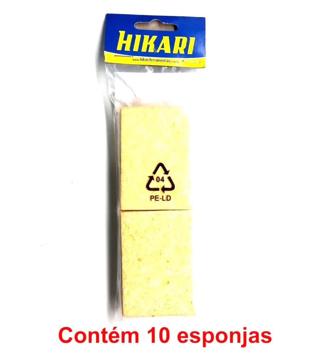 Esponja Vegetal Hikari (10 Peças)  - MRE Ferramentas