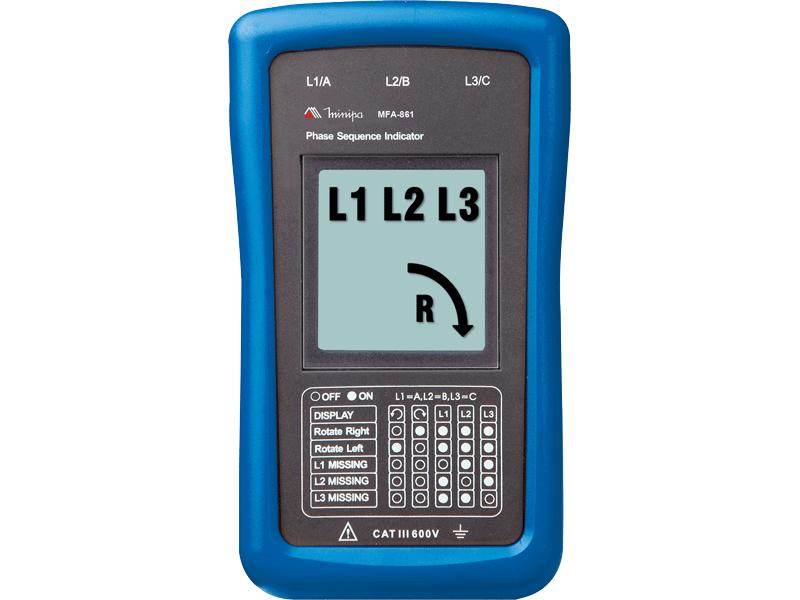 Fasímetro Digital Minipa MFA-861  - MRE Ferramentas