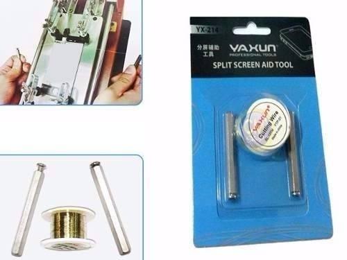 Fio de Aço e Par de Manoplas para separar LCD Yaxun YX-214  - MRE Ferramentas