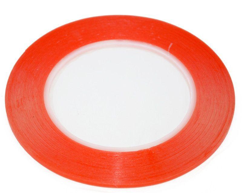 Fita Adesiva Dupla Face Para Colar Touch Vermelha 5mm x 50m  - MRE Ferramentas