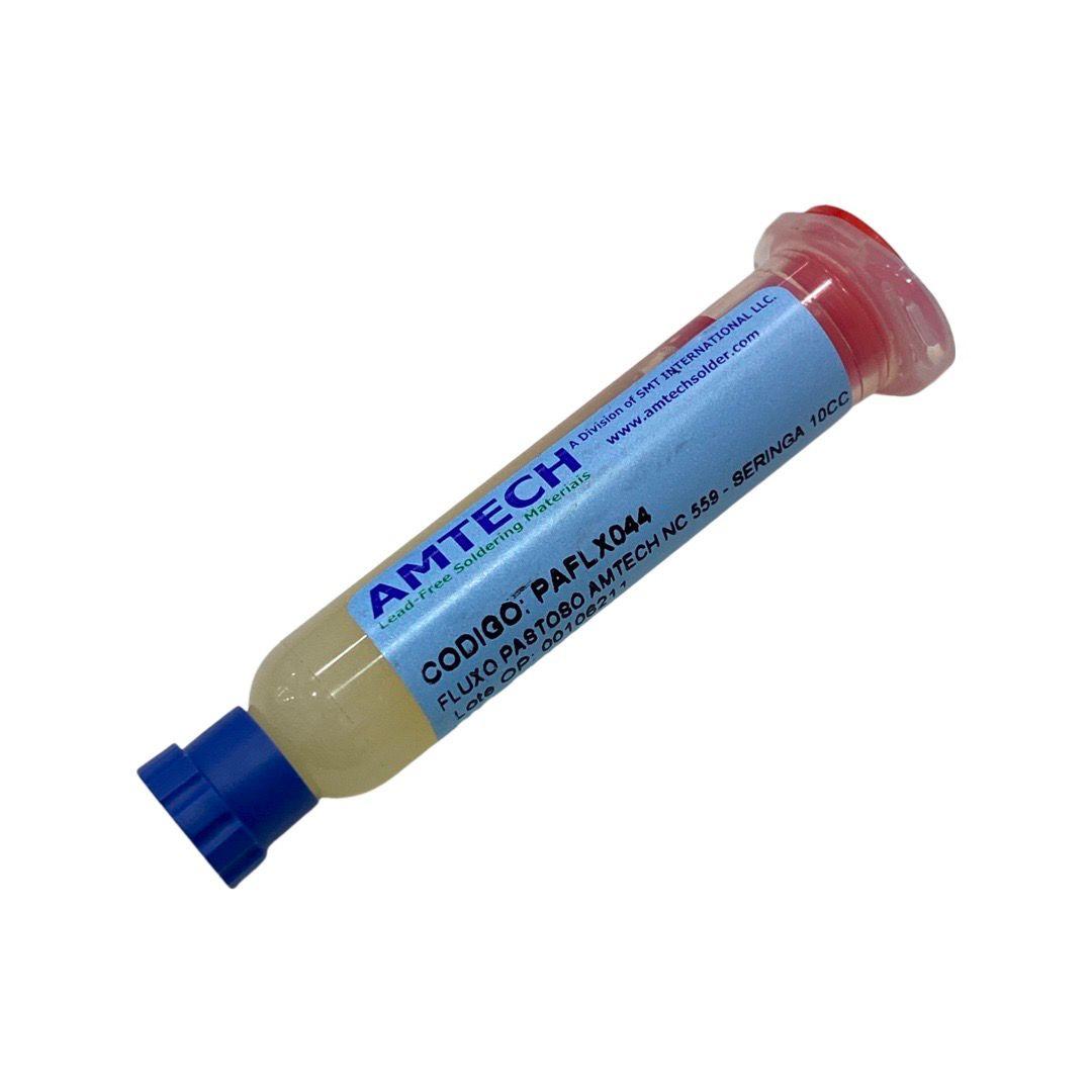 Fluxo de Solda em Pasta Amtech NC 559 Seringa 10g  - MRE Ferramentas