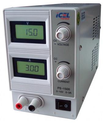 Fonte de Alimentação 0~15V 0~3A Icel PS-1500  - MRE Ferramentas