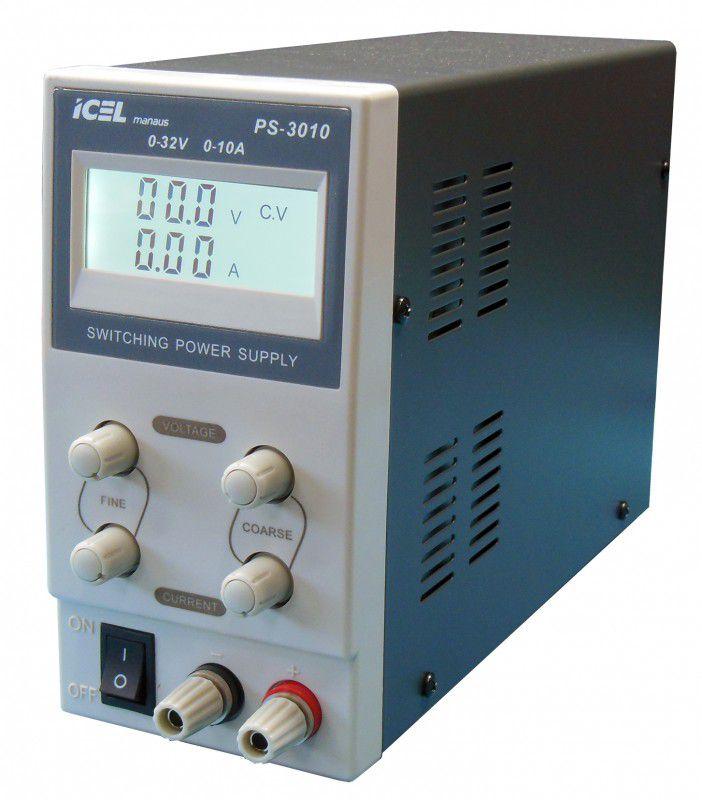 Fonte de Alimentação Simples 0~32V 0~10A Icel PS-3010  - MRE Ferramentas