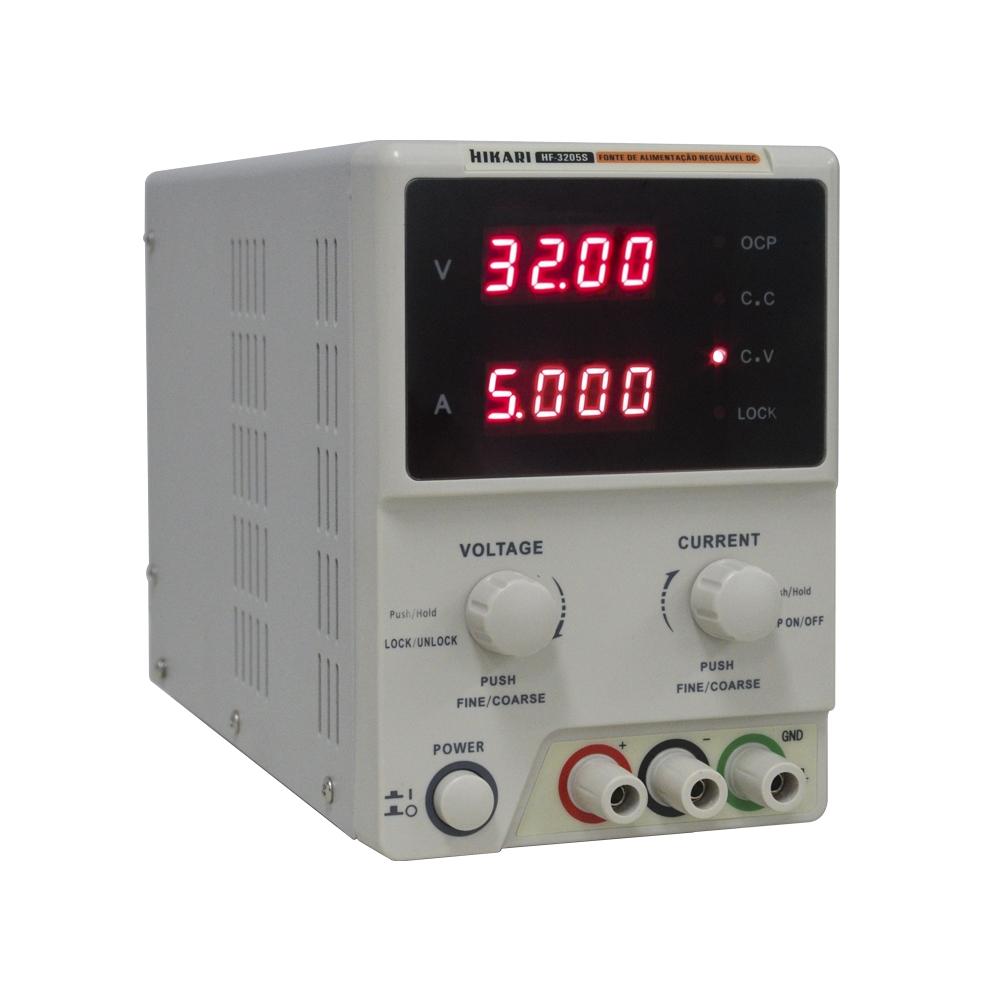 Fonte de Alimentação Simples 32V 5A Hikari HF-3205S  - MRE Ferramentas