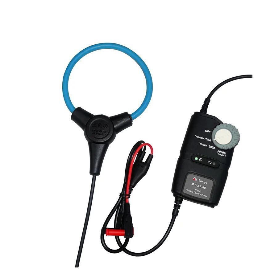"""Garra de Corrente Flexível 3000A/10"""" para Alicate ou Multímetro Minipa MFLEX-10  - MRE Ferramentas"""