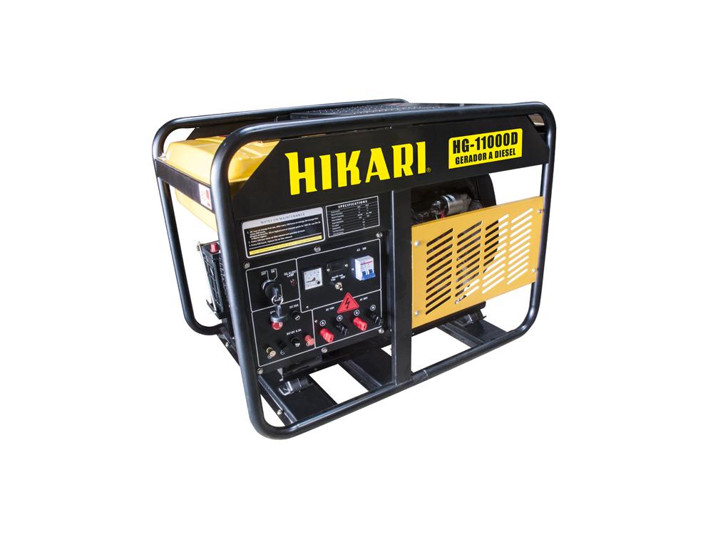 Gerador de Energia a Diesel 9,5kW Hikari HG-11000D  - MRE Ferramentas