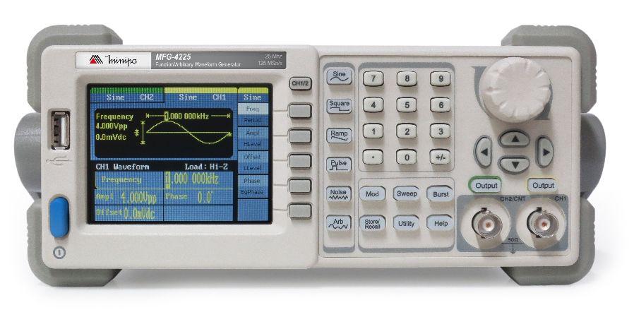 Gerador de Funções ondas Arbitrárias 25MHZ USB Minipa MFG-4225  - MRE Ferramentas