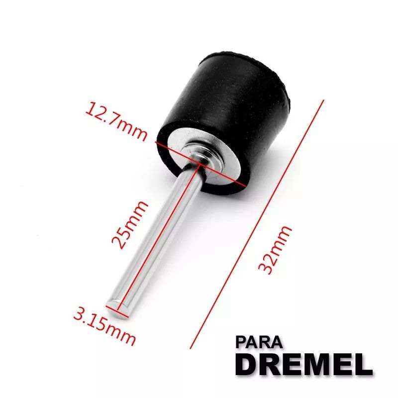 Haste Adaptador Lixa Tubo 1/2 Micro Retifica Dremel 407   - MRE Ferramentas