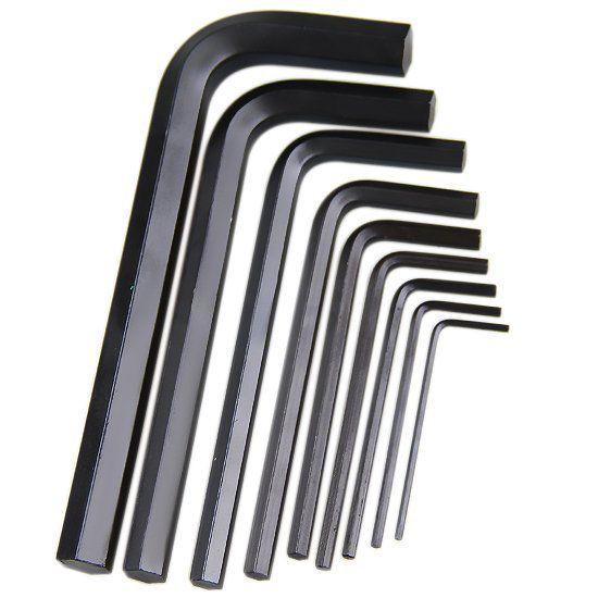Jogo de Chave Allen Curta de 1,5 a 10 mm com 9 peças Belzer 220407SBR  - MRE Ferramentas