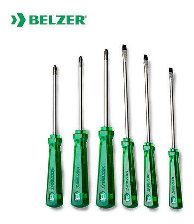Jogo de Chaves Fenda e Phillips Industrial com 6 Peças Belzer 232102BN  - MRE Ferramentas