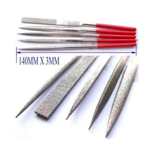 Jogo de Lima Agulha Profissional Diamantada 140mm C/ 5 Peças  - MRE Ferramentas