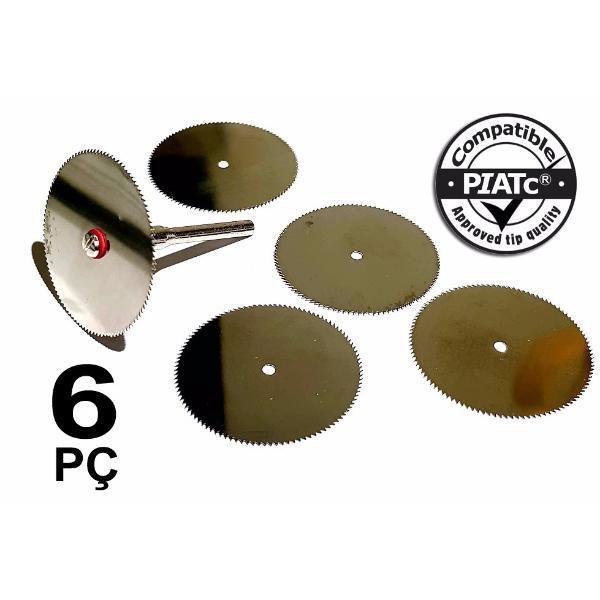 Kit 06 Peças Mini Disco Serra Circular Dremel Micro Retifica  - MRE Ferramentas