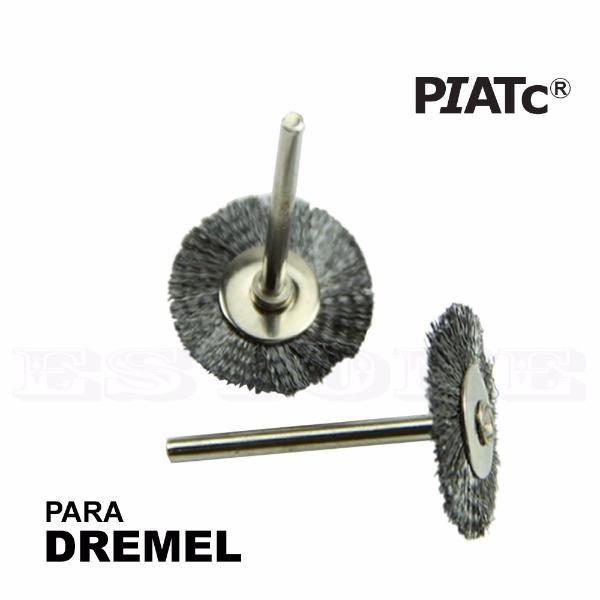Kit 10 Escovas De Aço 25 Mm Para Micro Retifica Dremel  - MRE Ferramentas