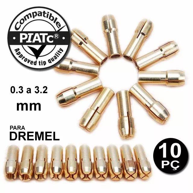 Kit 10 Pinças Para Micro Retífica Dremel  - MRE Ferramentas
