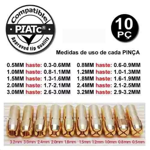 Kit 10 Pincas Para Micro Retifica Tipo Dremel  - MRE Ferramentas