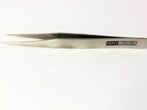 Kit 2 Pinças Antí-Estática Inox Hony (01 TS-10 e 01 TS-12)  - MRE Ferramentas