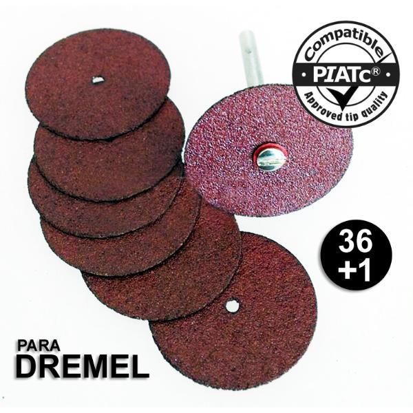 Kit 36 Disco De Corte P/ Micro Retífica Dremel + 1 Haste 420  - MRE Ferramentas