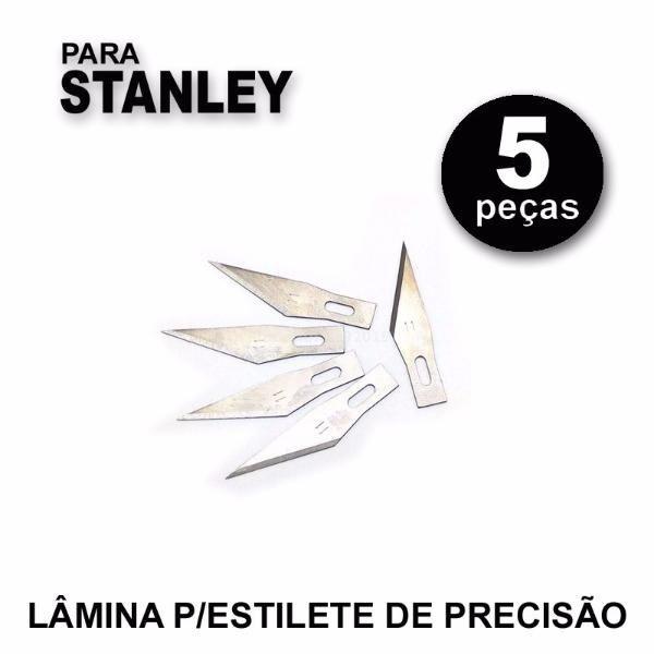Kit 5 Laminas Estilete Precisão Bisturi Artesanato #11 Kst  - MRE Ferramentas