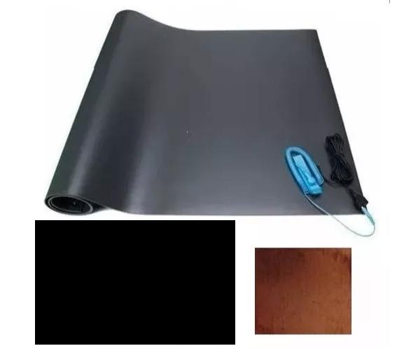 Kit Anti-estático (Contem: 01 Manta 0,60x1mt, 01 Cabo de aterramento, 01 pulseira e 01 placa de cobre)  - MRE Ferramentas