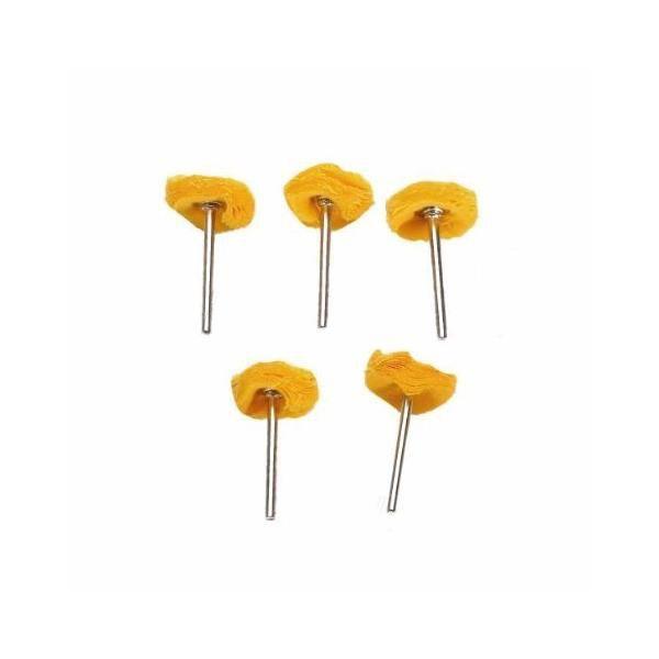 Kit Com 5 Rodas De Pano P/ Polimento Micro Retifica Dremel  - MRE Ferramentas
